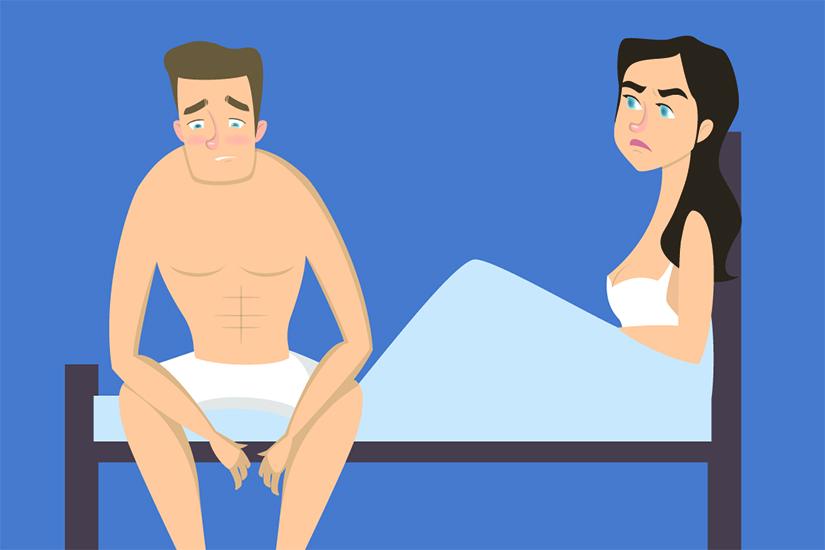 când o persoană are o erecție slabă)
