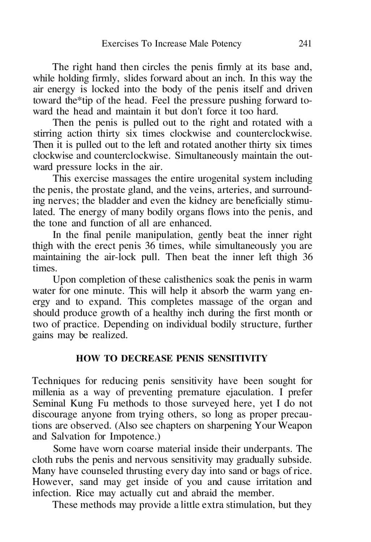 Exerciții de penis taoist)